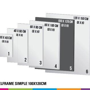 Textielframe simple 100x120cm - Frame + doek (Prijs 4 sets)
