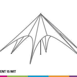 Startent 15 (8M Diameter) - Wit - Velcro