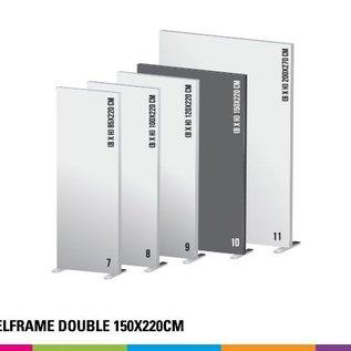 Textielframe simple 150x220cm. Frame + doek (Prijs 4 sets)
