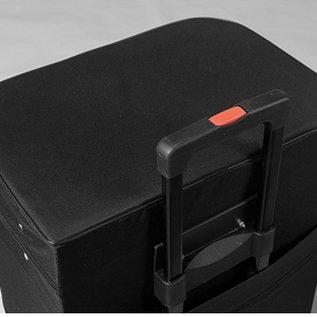 Carry bag - Case - 43x30x85cm binnemaat - zwart met wielen en uitschuifbare greep