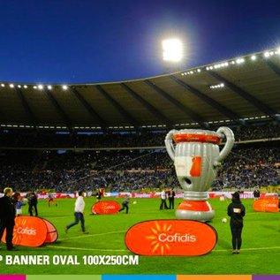 Popup banner ovaal 100 x 250 cm