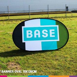 Popup banner ovaal 70 x 120 cm