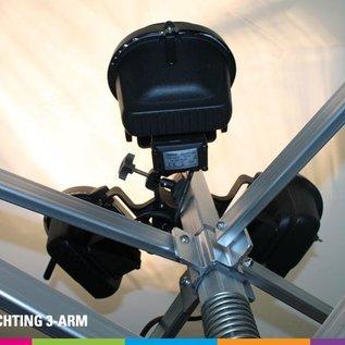 Verwarming 3-arm voor vouwtent (3x500W)