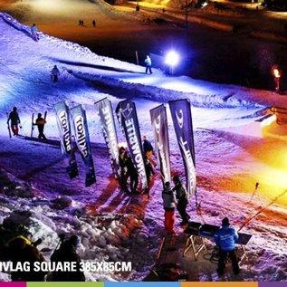 Flag Square 385 x 85 cm alu mast 25 mm