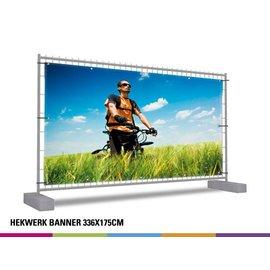 Hekwerk banner volledig: 336 x 175 cm