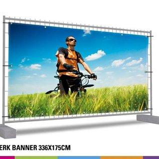 Hekwerk banner volledig: 336 x 175cm