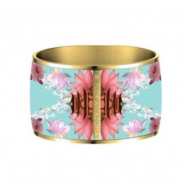 "BRAZALETE BANGLE ""SAMOURAI DREAM"" - BAÑADO EN ORO 24 Qt"