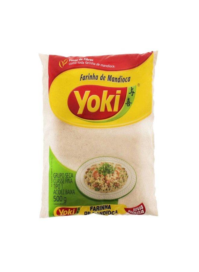 Raw manioc flour - Farinha de Mandioca Crua Yoki 500g