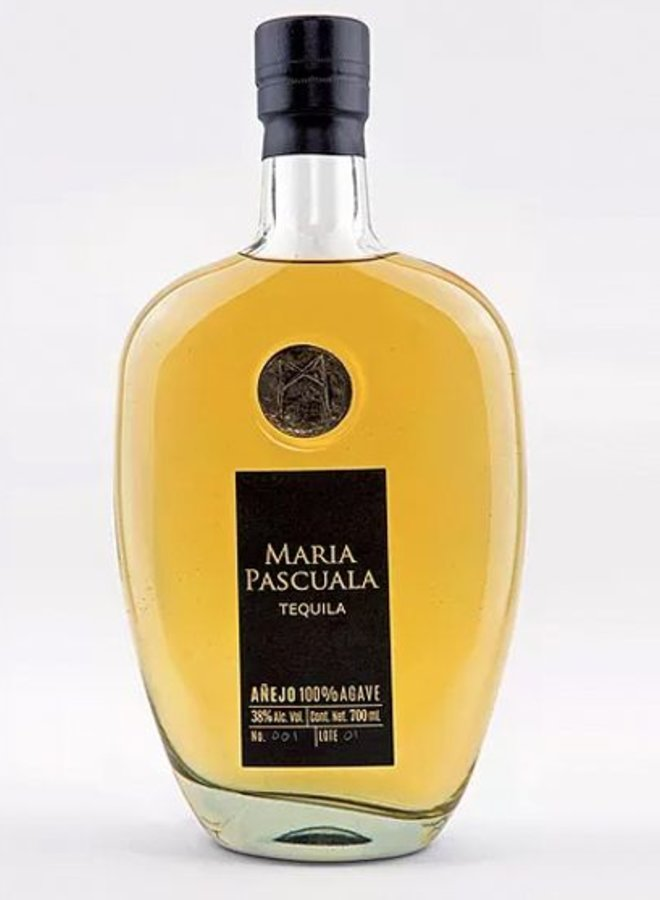 """MARIA PASCUALA PREMIUM TEQUILA """"AGED"""" 100% AGAVE FROM MEXICO"""