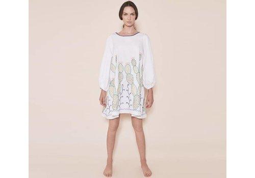 """SANTA LUPITA KLEID """"THE NOPALES DRESS"""" WHITE - MEXIKO"""