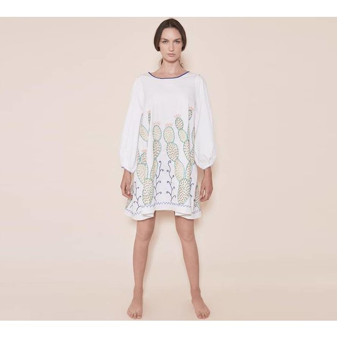 "DRESS ""THE NOPALES DRESS"" WHITE - MEXICO"
