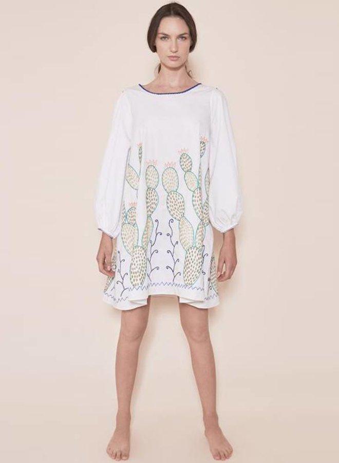 "DRESS ""THE NOPALES DRESS"" WHITE - MEXICO"