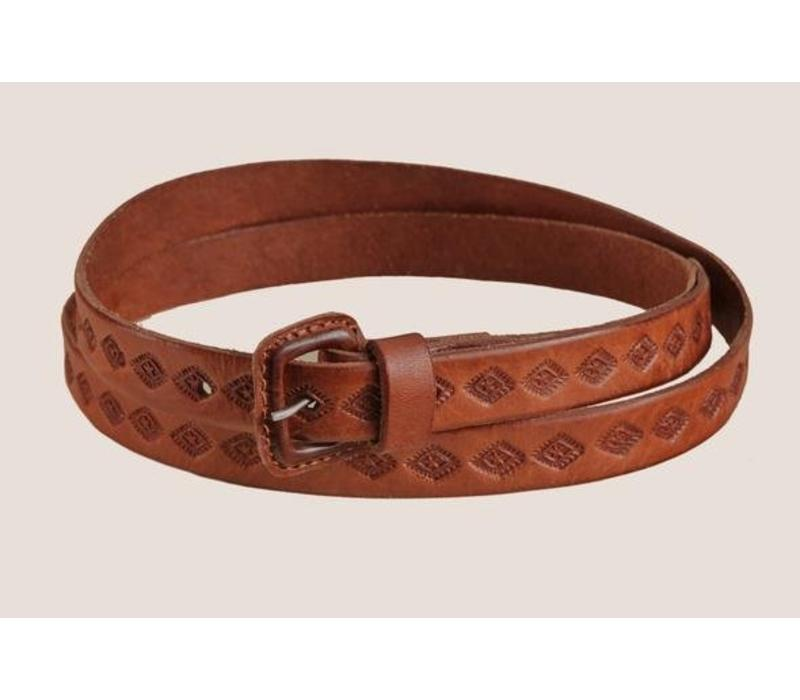 "LEATHER BELT ""THE MOJAVE II""  FROM MEXICO"