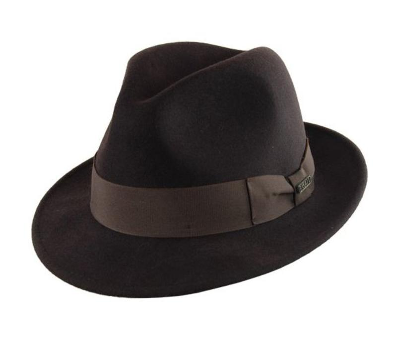 "HAT ""MILANO"" WOLL FELT FROM ECUADOR - BROWN"