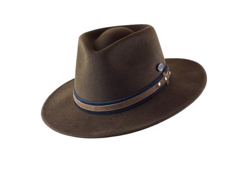 "Cayambe HAT ""OUTDOOR"" WOLL FELT FROM ECUADOR - CHOCOLATE"