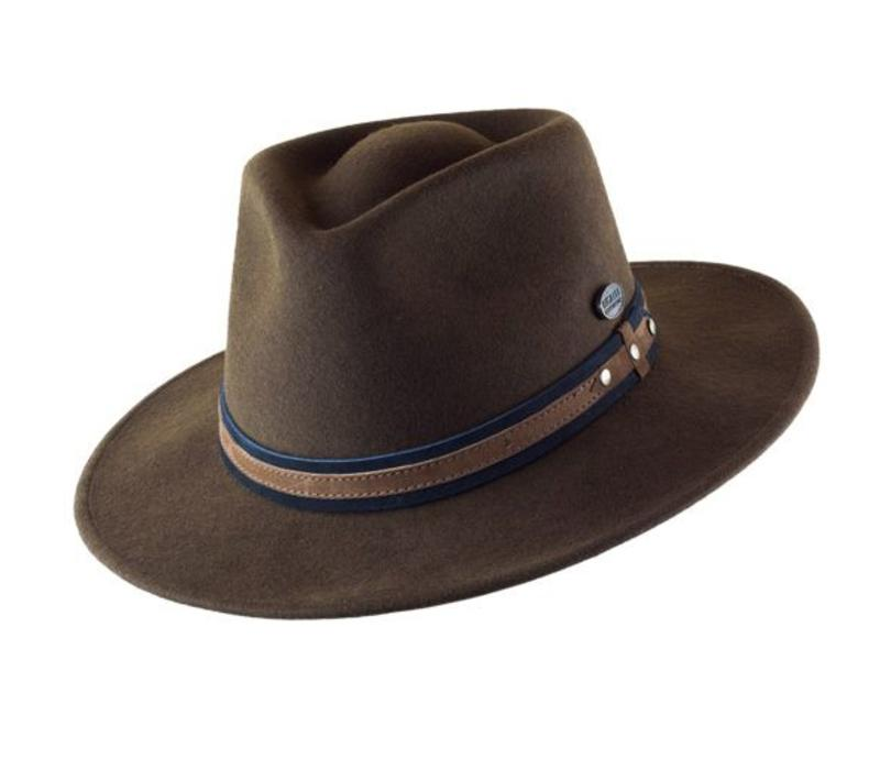 "HAT ""OUTDOOR"" WOLL FELT FROM ECUADOR - CHOCOLATE"