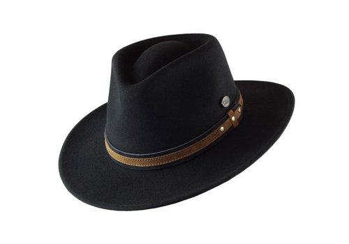 "Cayambe HAT ""OUTDOOR"" WOLL FELT FROM ECUADOR - BLACK"