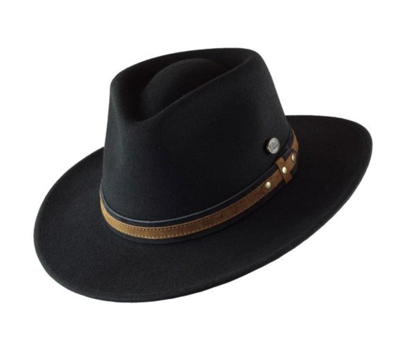 "HAT ""OUTDOOR"" WOLL FELT FROM ECUADOR  - BLACK"