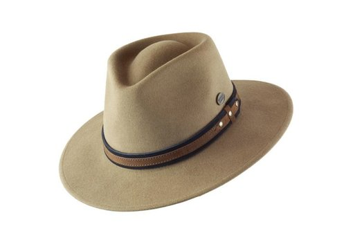 "Cayambe HAT ""OUTDOOR"" WOLL FELT FROM ECUADOR - CAMEL"