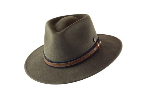 "CAYAMBE HAT ""OUTDOOR"" WOLL FELT FROM ECUADOR - MOSS"