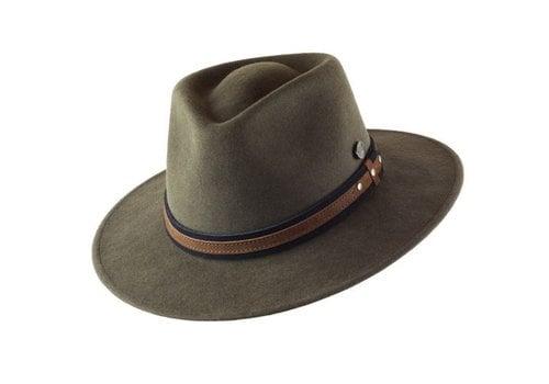 "CAYAMBE HAT ""OUTDOOR"" WOLL FELT FROM ECUADOR - MOSS"