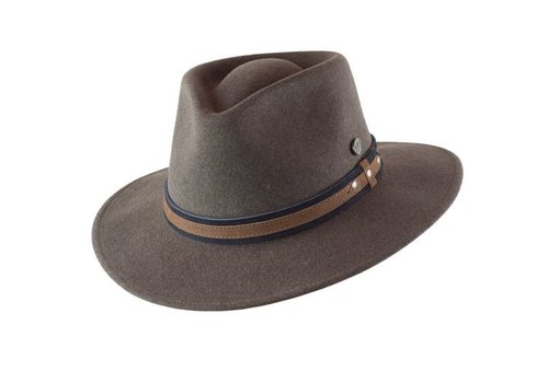 "Cayambe HAT ""OUTDOOR"" WOLL FELT FROM ECUADOR - TOBACCO MELANGE"