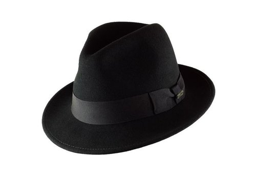 "CAYAMBE HAT ""MILANO"" FILZWOLLE FROM ECUADOR - BLACK"