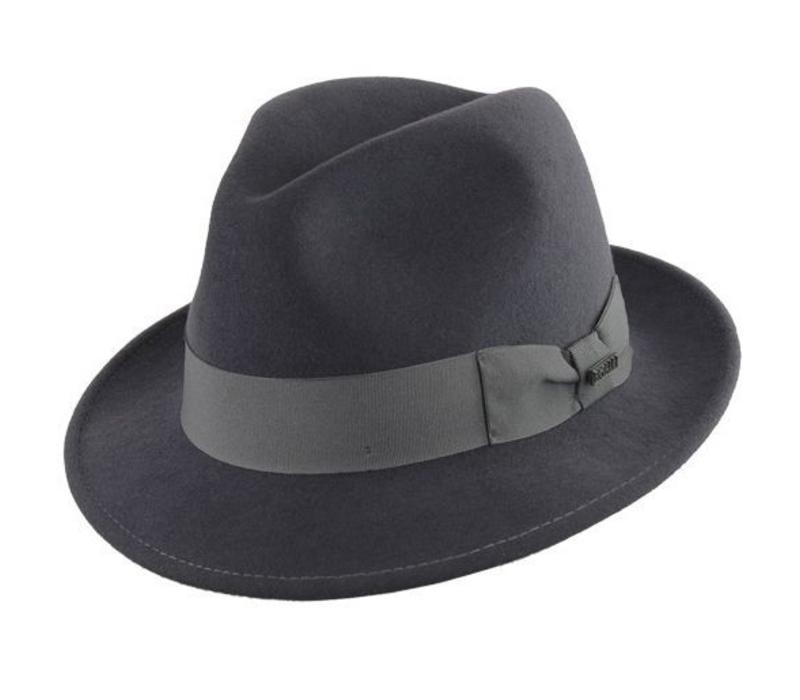 """HAT """"MILANO"""" WOLL FELT FROM ECUADOR - GREY"""