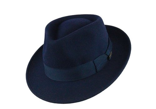 "Bigalli HAT ""QUICK STEP"" WOLL FELT FROM ECUADOR - NAVY BLUE"