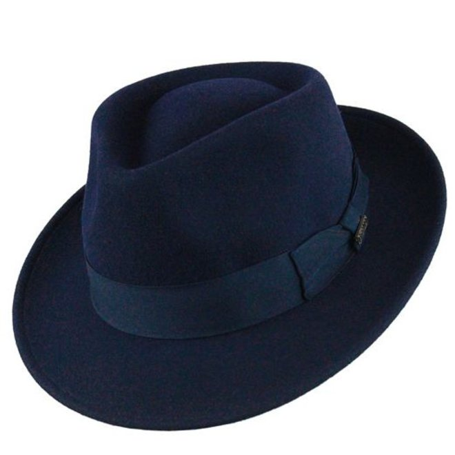 "HAT ""QUICK STEP"" WOLL FELT FROM ECUADOR - NAVY BLUE"