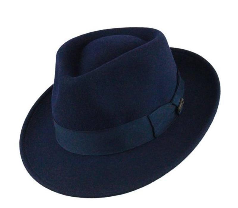 "HAT ""QUICK STEP"""" WOLL FELT FROM ECUADOR  - NAVY BLUE"