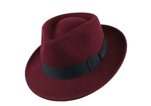 "Bigalli HAT ""QUICK STEP"" WOLL FELT FROM ECUADOR - BURGUNDY"