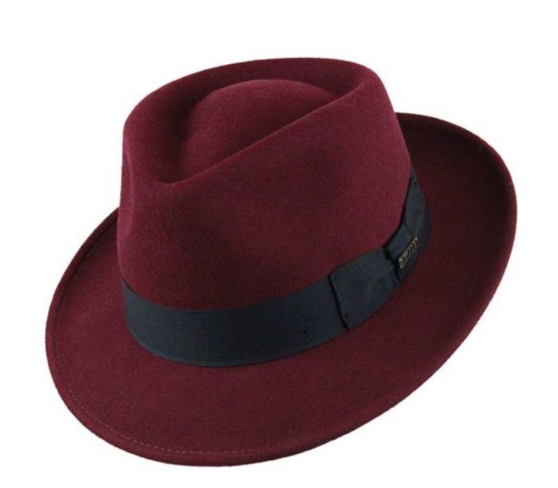 "HAT ""QUICK STEP"""" WOLL FELT FROM ECUADOR  - BURGUNDY"