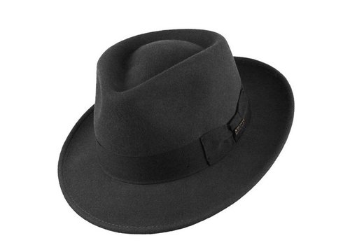 "Bigalli HAT ""QUICK STEP"" WOLL FELT FROM ECUADOR - BLACK"