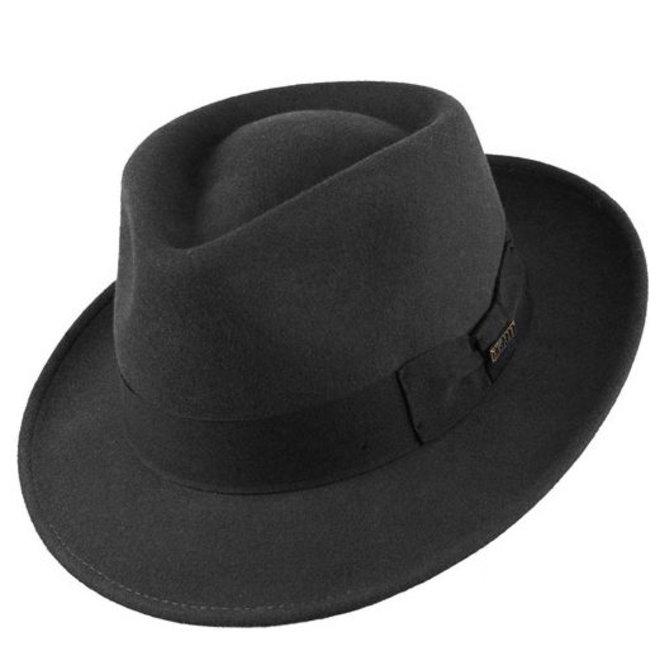 "HAT ""QUICK STEP"" WOOL FELT FROM ECUADOR - BLACK"