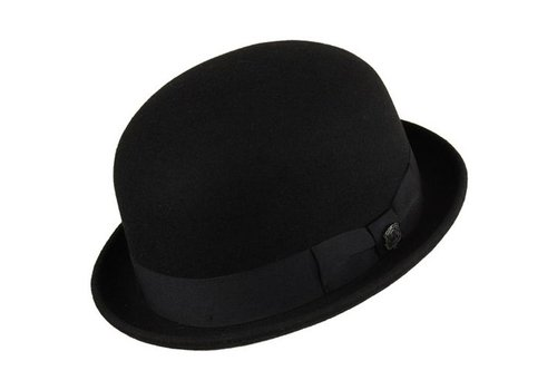 "Bigalli HAT ""DERBY"""" WOLL FELT FROM ECUADOR - BLACK"