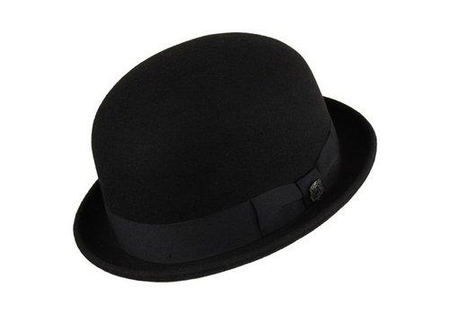 """HAT """"DERBY"""""""" WOLL FELT FROM ECUADOR - BLACK"""