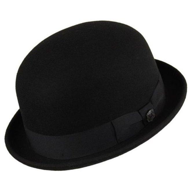 """HAT """"DERBY"""" WOLL FELT FROM ECUADOR - BLACK"""