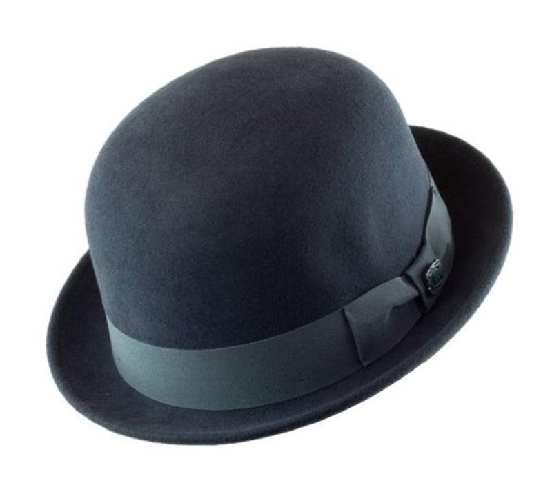 """HAT """"DERBY"""""""" WOLL FELT FROM ECUADOR - DARK GREY"""