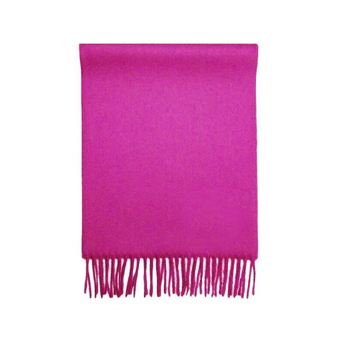 """SCARF """"LUXE"""" - 100% BABY ALPACA WOOL - FUCSIA"""