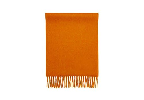 MORA SILVA SCARF 100% BABY ALPACA WOOL - ORANGE