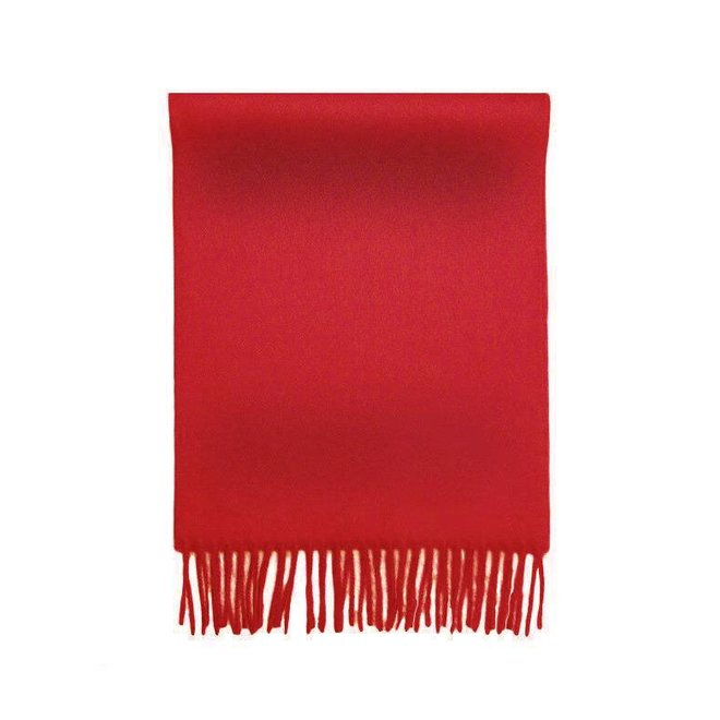 """SCHAL """"LUXE"""" 100% BABY ALPACA WOLLE - ROT"""