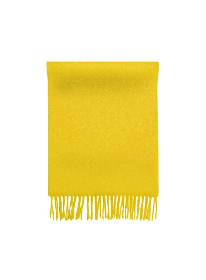 SCARF 100% BABY ALPACA WOOL - YELLOW