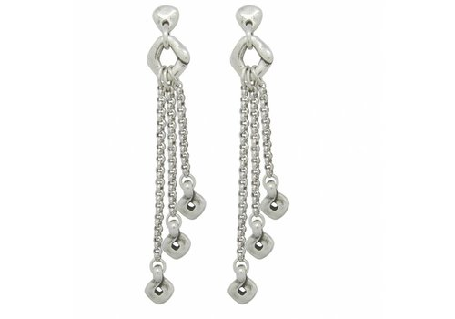 Ciclon EARRINGS METAL SILVER, COLLECTION PARADISE WOMEN, REF. 181615