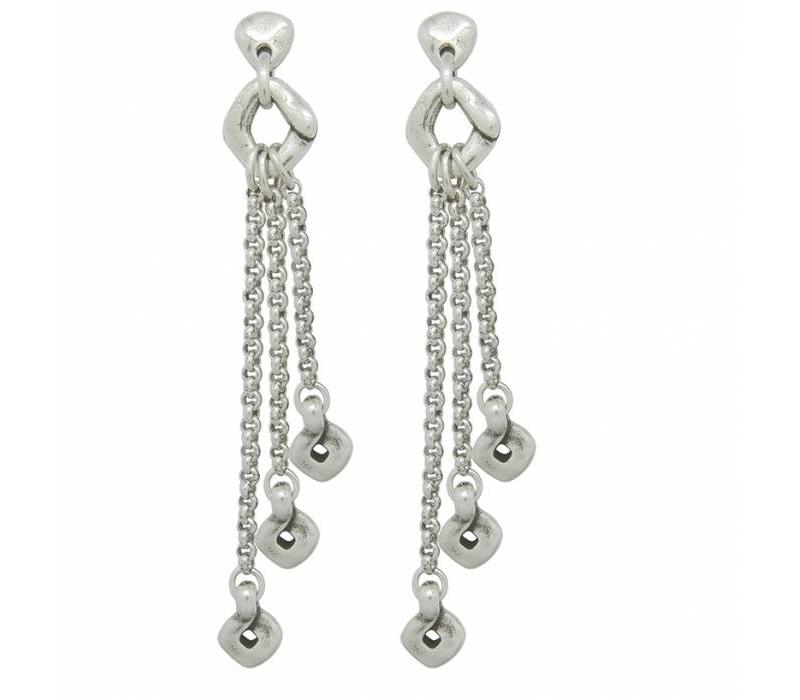 EARRINGS METAL SILVER, COLLECTION PARADISE WOMEN, REF. 181615