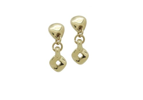 CICLON EARRINGS GOLD PLATED, COLLECTION PARADISE, REF. ORO628