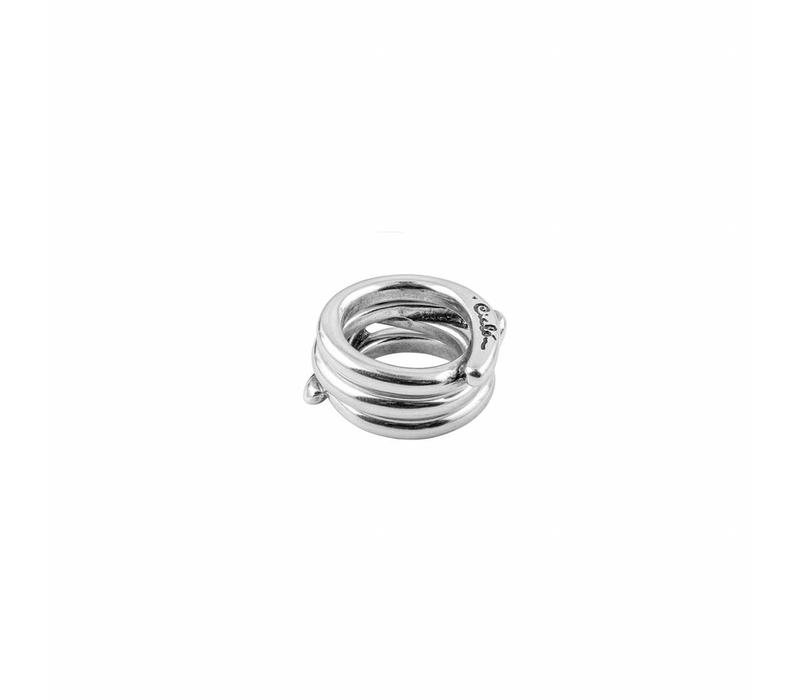 RING METAL SILVER PLATED, REF. 152517