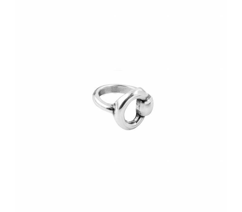 RING METAL SILVER PLATED, COLLECTION ESSENTIALS, REF. 005319-00-1