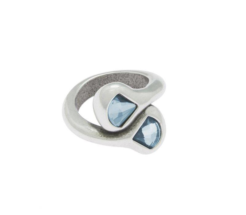 RING SILVER & SWAROVSKI CRYSTAL  LIGHT BLUE, EMOTION COLLECTION, REF. SWR502-36-1