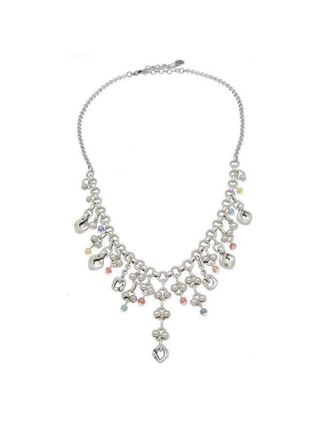 COLLIER METALL & MURANO-KRISTALLE MULTICOLOR , COLLECTION PARADISE, REF. 181831-00